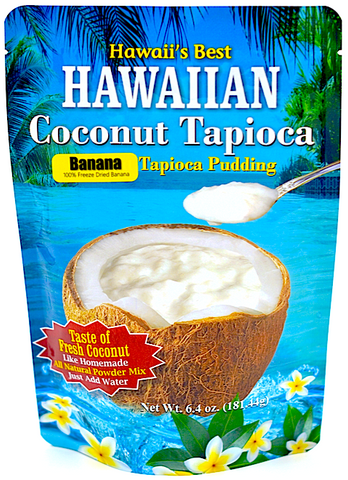 (5 BAGS - EXTRA VALUE PACK, $5.99 EACH) BANANA COCONUT TAPIOCA MIX, Specialty Item- Limited Time Only, Made with 100% Freeze Dried Banana