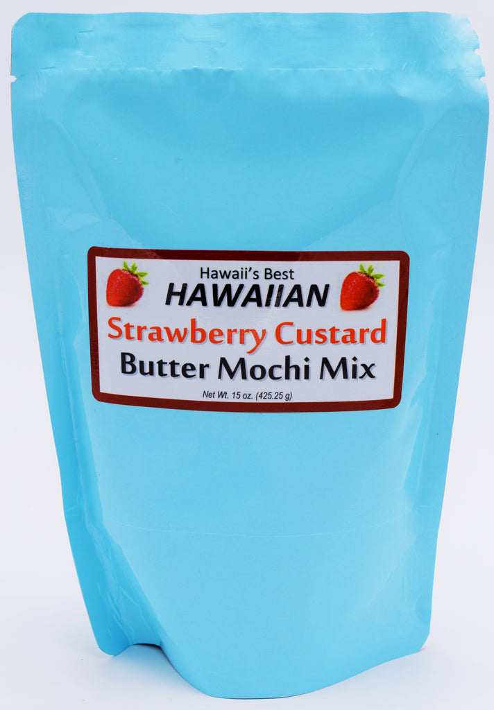(3 BAGS - EXTRA VALUE PACK, $6.99 EACH) STRAWBERRY CUSTARD BUTTER MOCHI MIX, SPECIALTY ITEM, LIMITED INVENTORY.