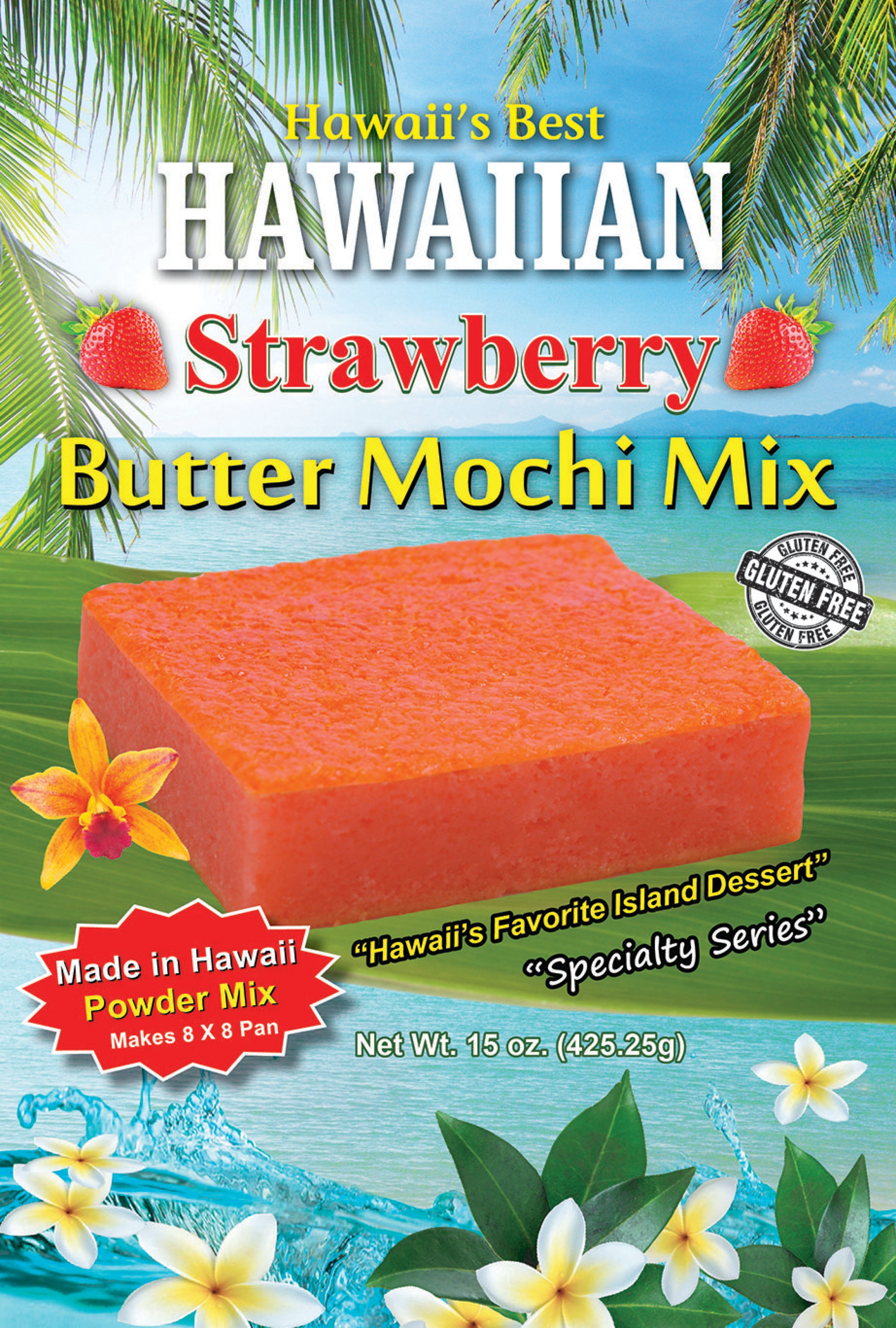 Free Shipping! (10 BAGS - EXTRA VALUE PACK, $5.49 EACH) STRAWBERRY BUTTER MOCHI MIX, SPECIALTY ITEM, LIMITED INVENTORY