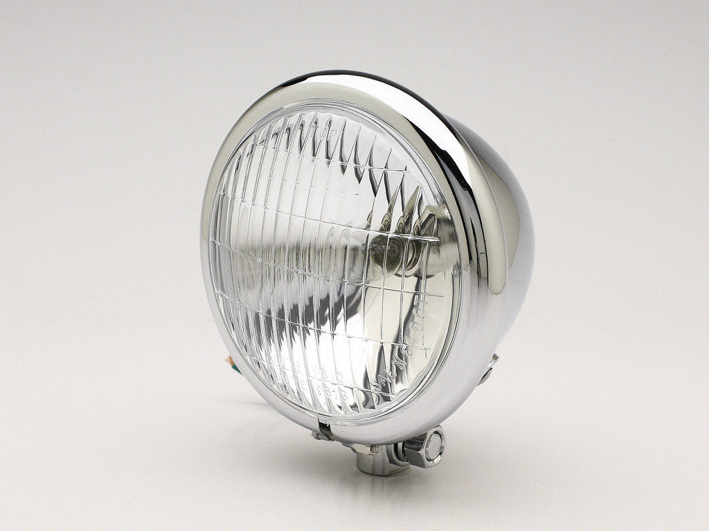 "Headlight, 4.5"" Bottom-mount, Chrome, DOT Lens"