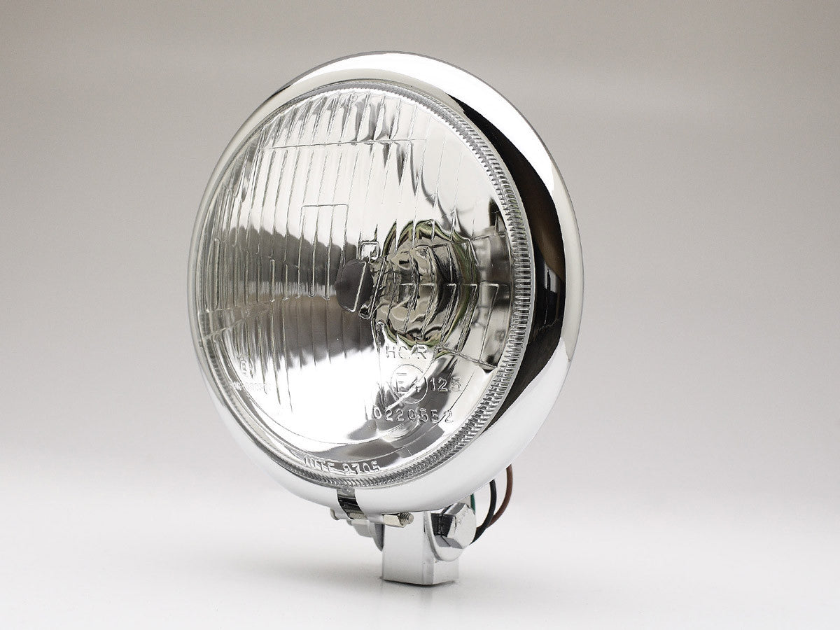 "Headlight, 5.75"" Bottom Mount, Chrome, Model B"