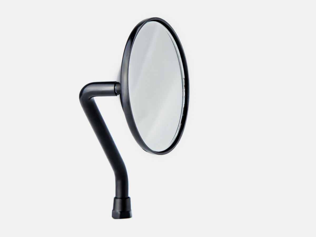"Mirror, 3.5"" Round, Black, Short Stem"