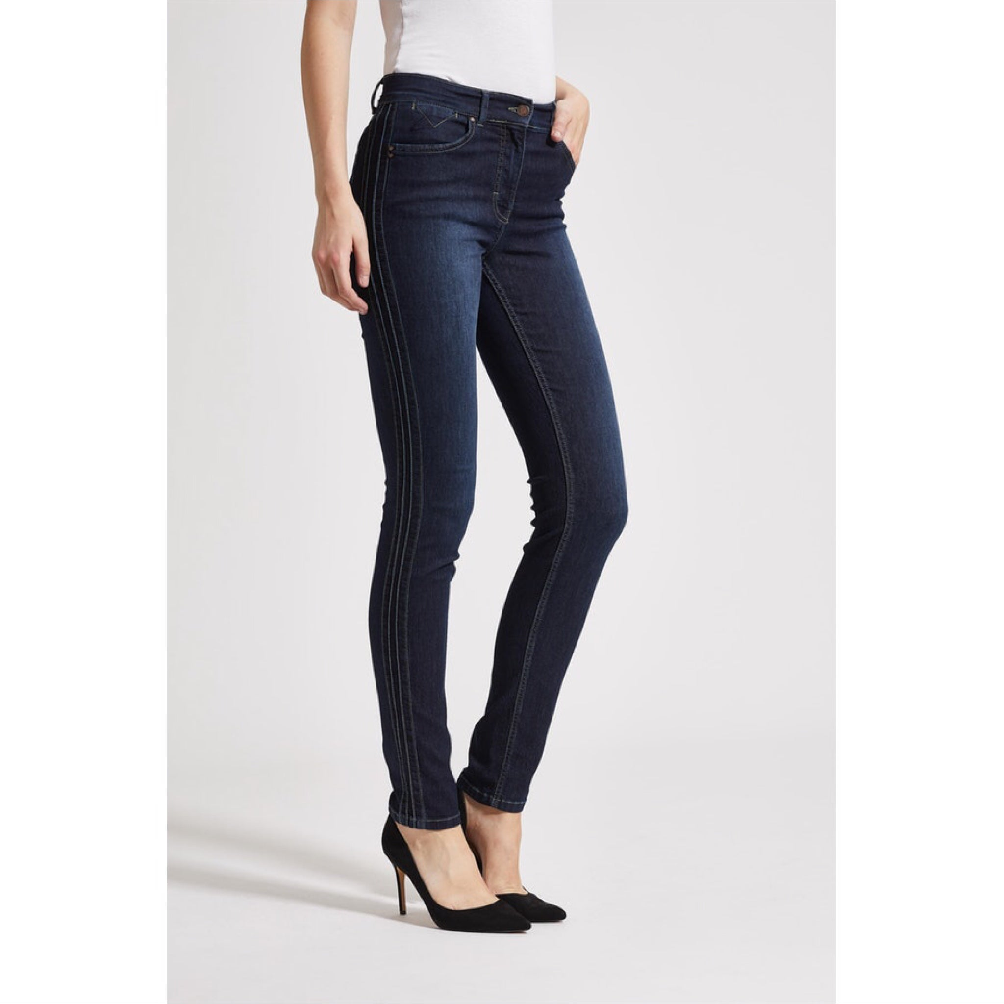Stretchjeans Lonnie Pin denimblau