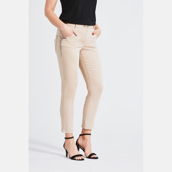 Stretchhose Ozona khaki, peach finish
