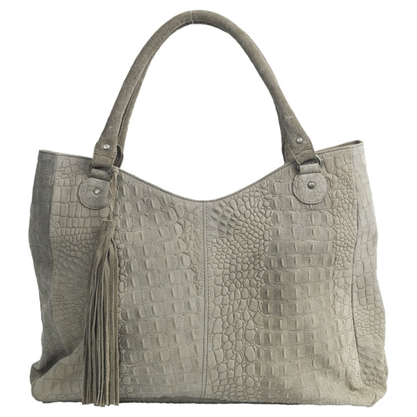 Schultertasche Agnes taupe