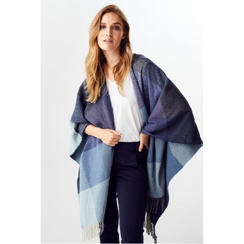 Ponchoschal Favour blau