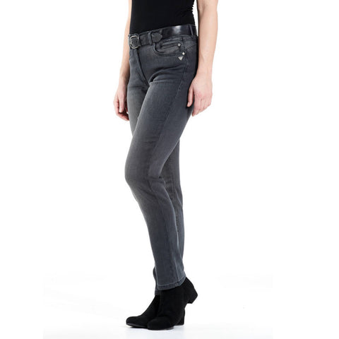 Stretchhose Sophie black denim washed