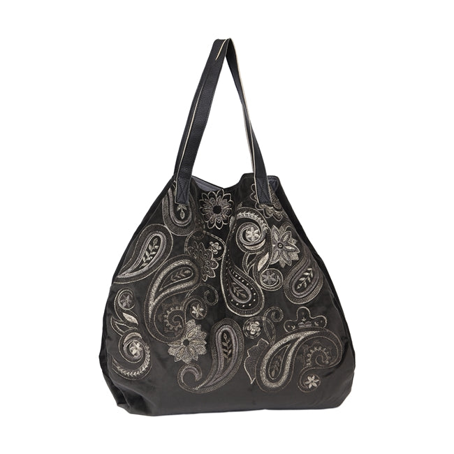 Schultertasche Tiffany graphit/taupe