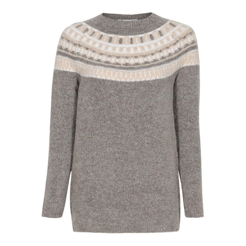 Pullover Ina taupe/natur