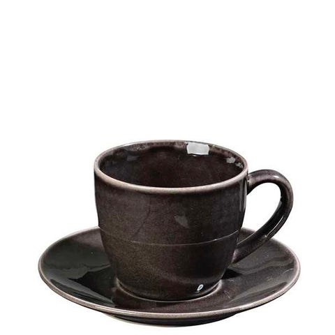 Tasse/Untertasse Nordic Coal, 15cl