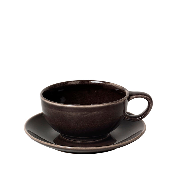 Tasse/Untertasse Nordic Coal, 25cl