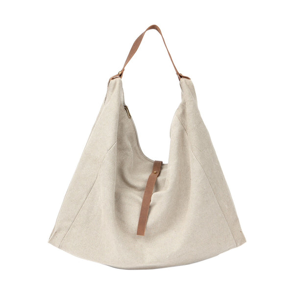 Schultertasche Panama taupe