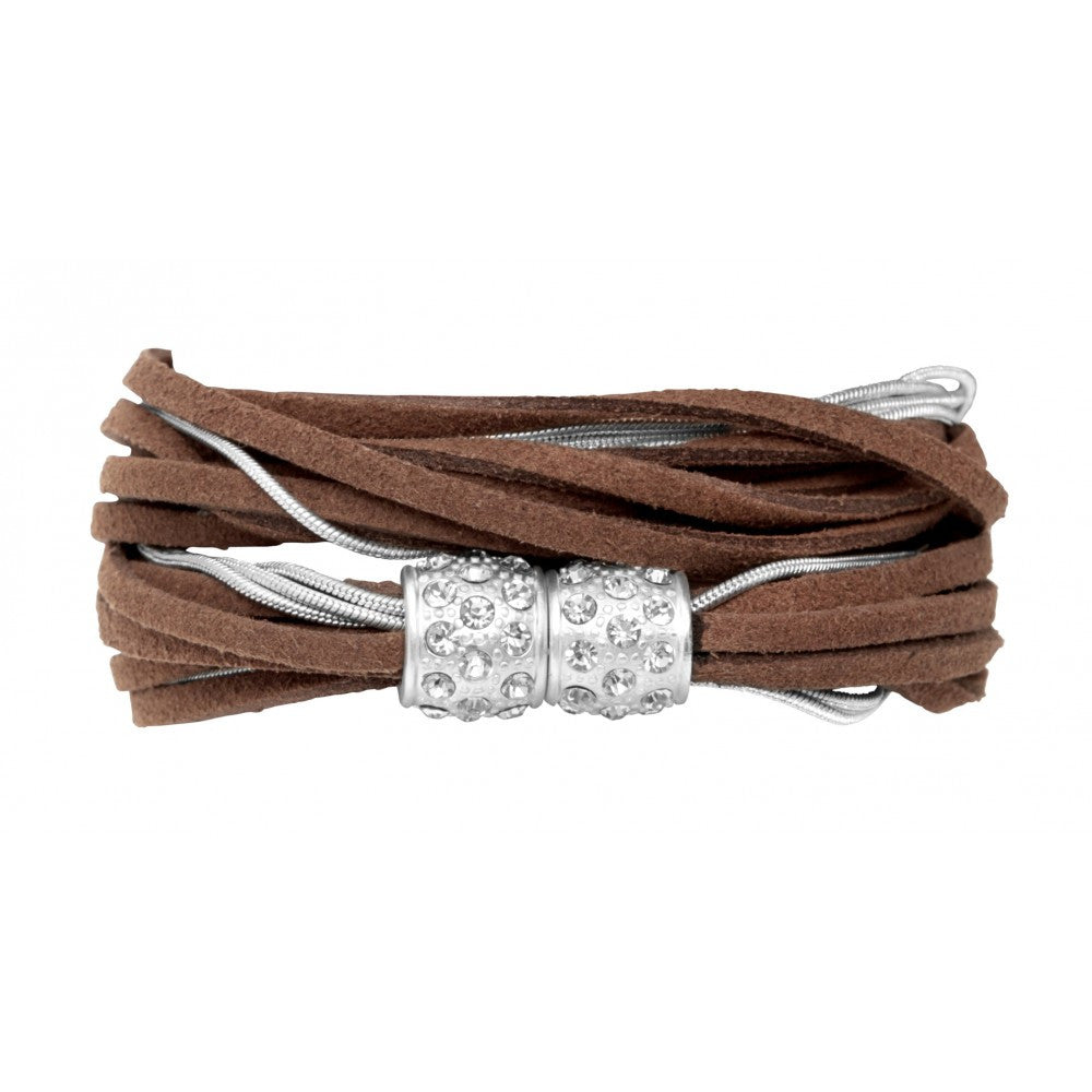 Armband Ruby camel/silber