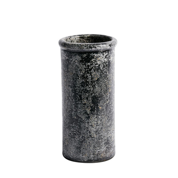 Vase Cylinder metallic finish
