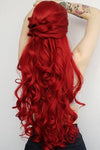 "28"" Red Lace Front Synthetic Hair Wig 10094 - StarLite Hair"