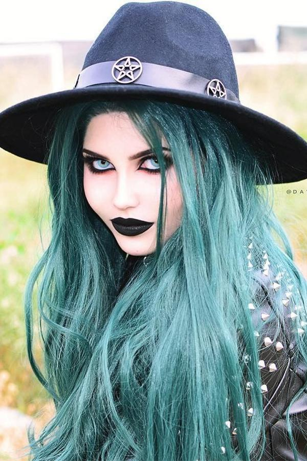 "28"" Deep Sea Green Lace Front Synthetic Wig 10153 - StarLite Hair"