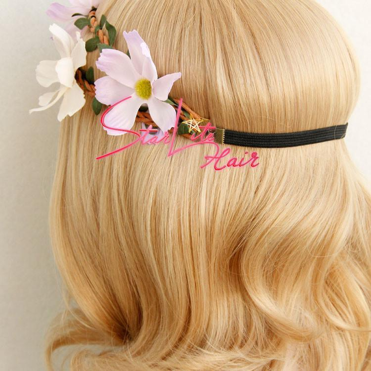 Bridesmaid Vine Flower Wreath Boho Headband AC007 - StarLite Hair