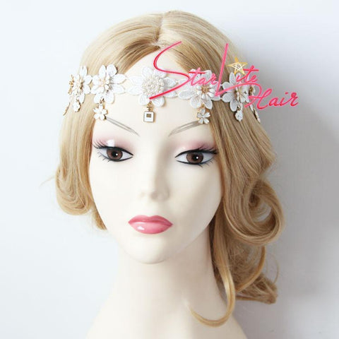 Purple Flower Vine Wreath Woodland Circlet Headband AC009