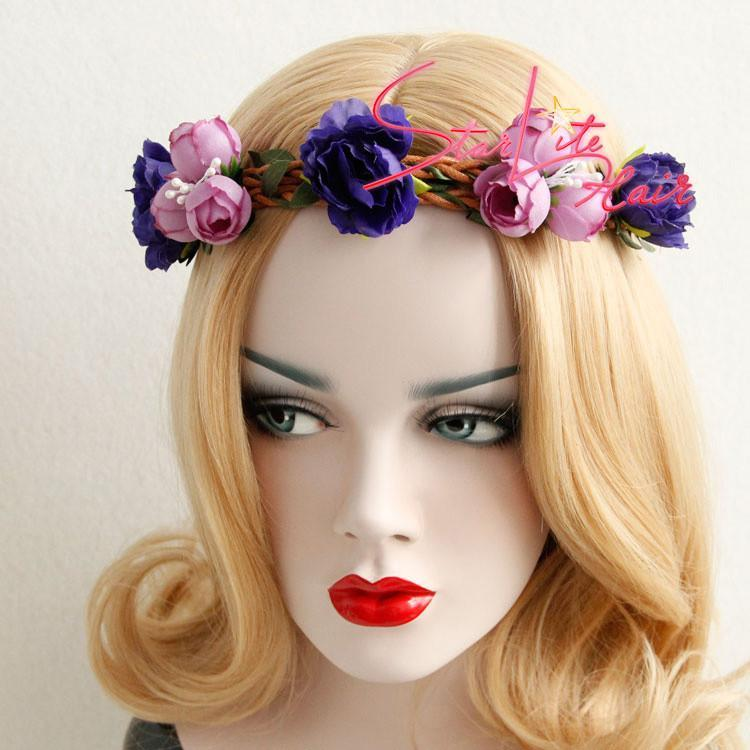 Woodland Rustic Vine Flower Wreath Boho Headband AC027 - StarLite Hair