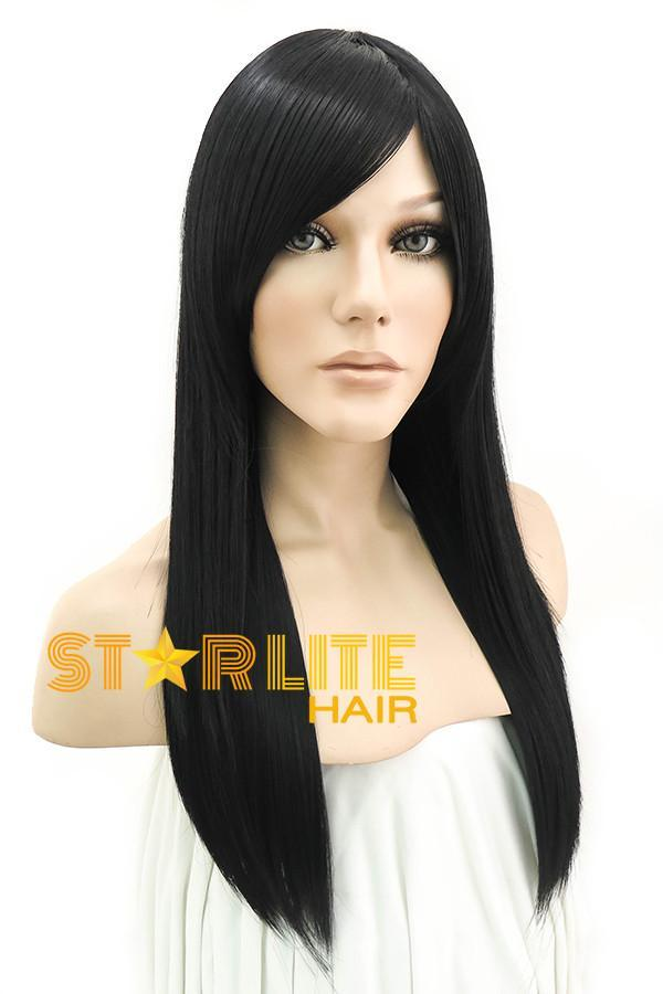 "24"" Black Fashion Synthetic Hair Wig 50036"