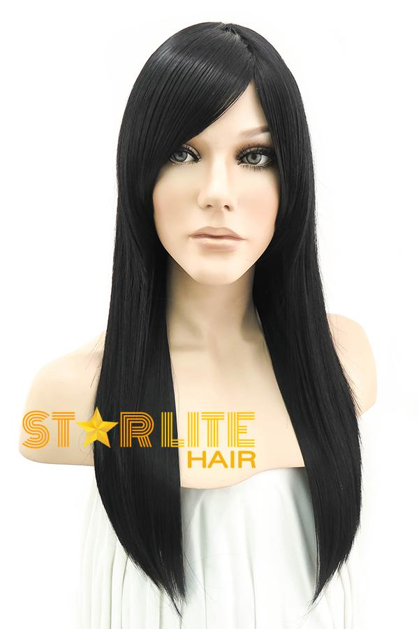 "24"" Black Fashion Synthetic Hair Wig 50036 - StarLite Hair"