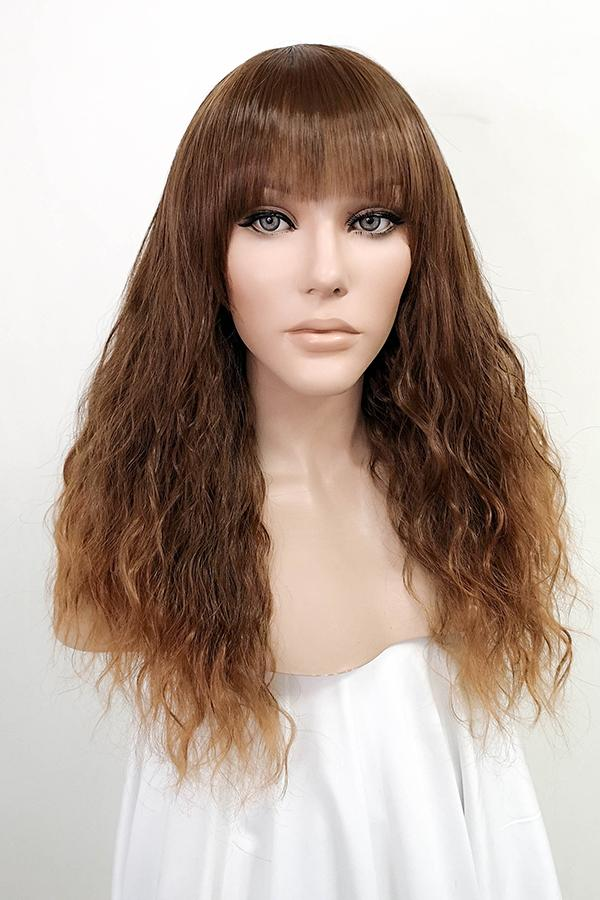 "20"" Brown Fashion Synthetic Wig 50085"