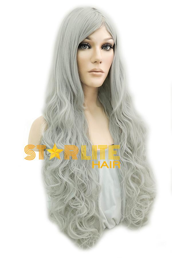 "31"" Grey Fashion Synthetic Hair Wig 50101 - StarLite Hair"