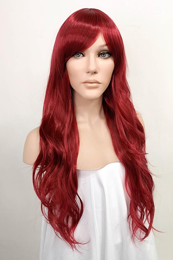 "24"" Dark Red Fashion Synthetic Hair Wig 50205 - StarLite Hair"