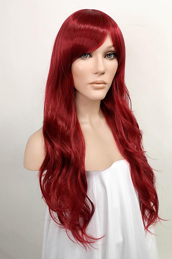 "24"" Dark Red Fashion Synthetic Hair Wig 50205"