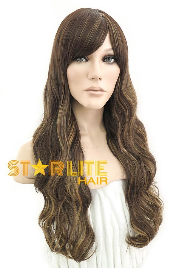 "26"" Brown with Blonde Fashion Synthetic Wig 50052 - StarLite Hair"
