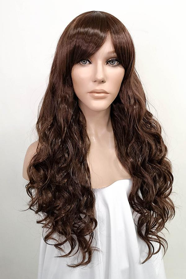 "24"" Dark Brown Fashion Synthetic Hair Wig 50102 - StarLite Hair"