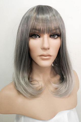 "14"" Two Tone Green Fashion Synthetic Hair Wig 50207"