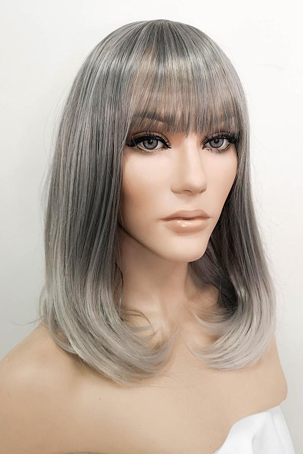 "16"" Two Tone Grey Fashion Synthetic Hair Wig 50087 - StarLite Hair"
