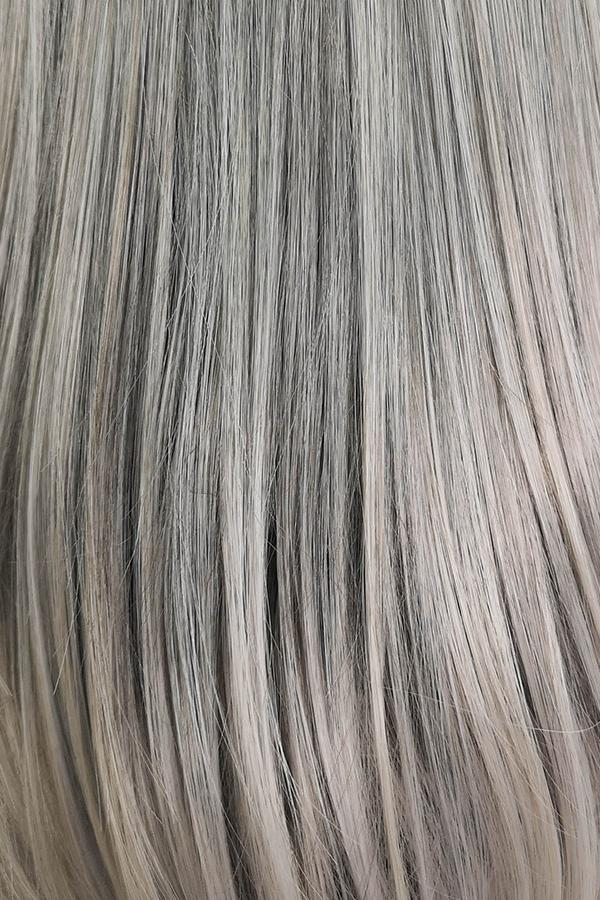 "16"" Two Tone Grey Fashion Synthetic Hair Wig 50087"