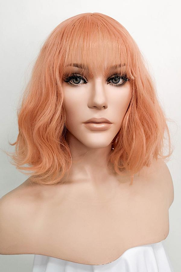"12"" Peach Pink Fashion Synthetic Wig 50083"