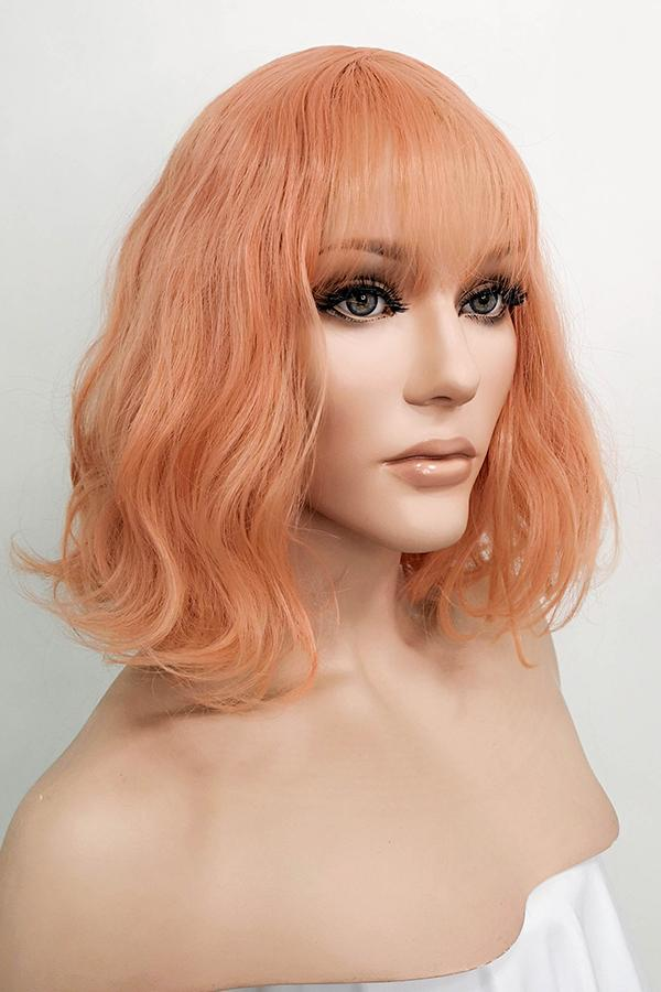 "12"" Peach Pink Fashion Synthetic Wig 50083 - StarLite Hair"