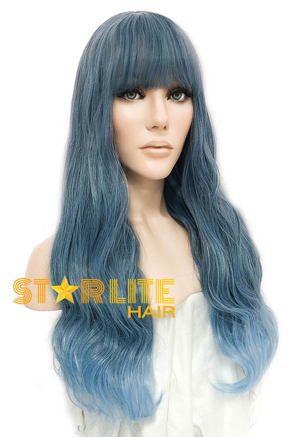 "24"" Two Tone Blue Fashion Synthetic Hair Wig 50206 - StarLite Hair"