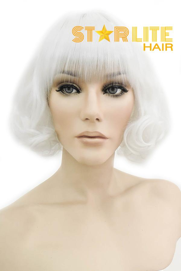 "10"" White Fashion Synthetic Hair Wig 50135 - StarLite Hair"