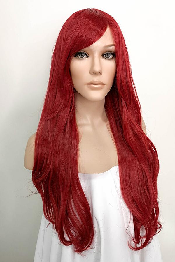 "26"" Dark Red Fashion Synthetic Hair Wig 40037"