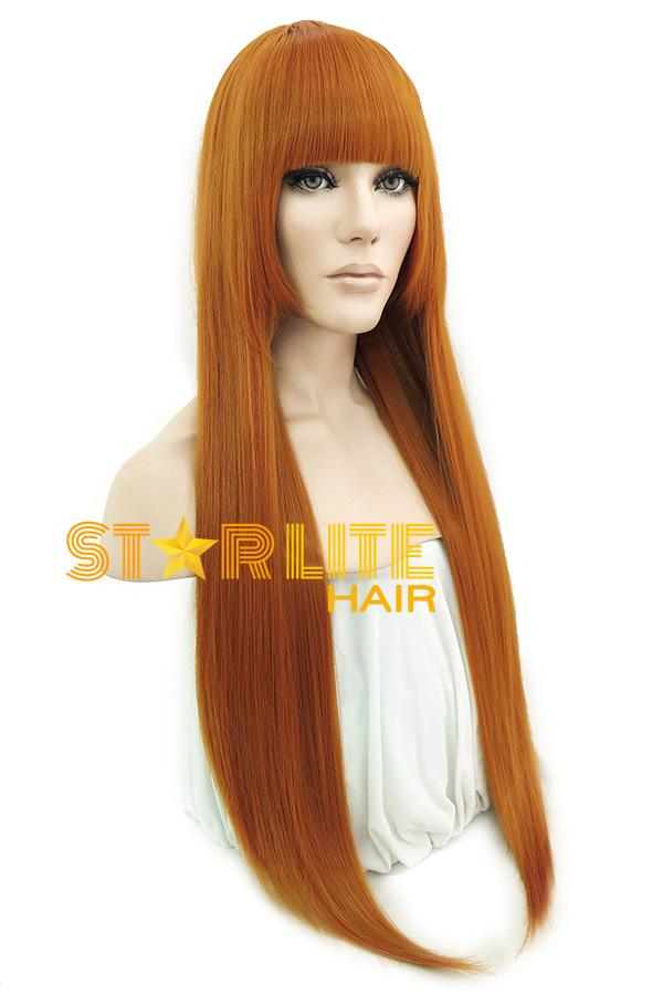 "33"" Pumpkin Orange Fashion Synthetic Wig 50104 - StarLite Hair"