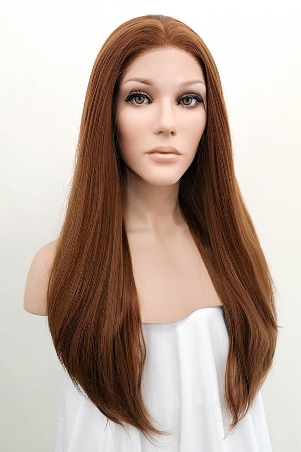 "24"" Brown Lace Front Synthetic Hair Wig 20003 - StarLite Hair"