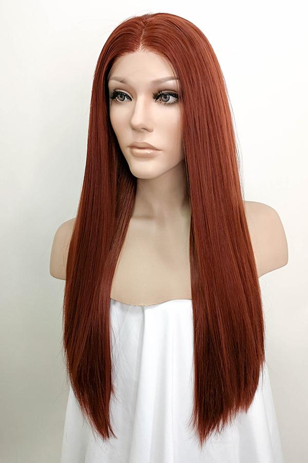 "24"" Auburn Lace Front Synthetic Wig 20006 - StarLite Hair"