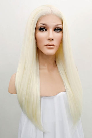 "24"" Pink Dark Roots Lace Front Synthetic Wig 20209"