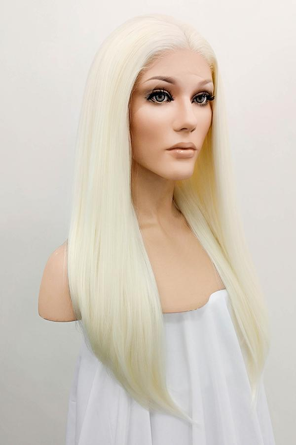 "24"" Light Blonde Lace Front Synthetic Wig 20007"
