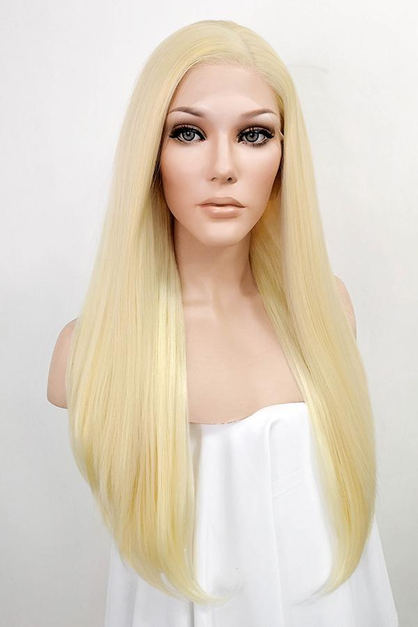 "Gwyneth Paltrow Inspired 24"" Golden Blonde Lace Front Synthetic Wig 20009"