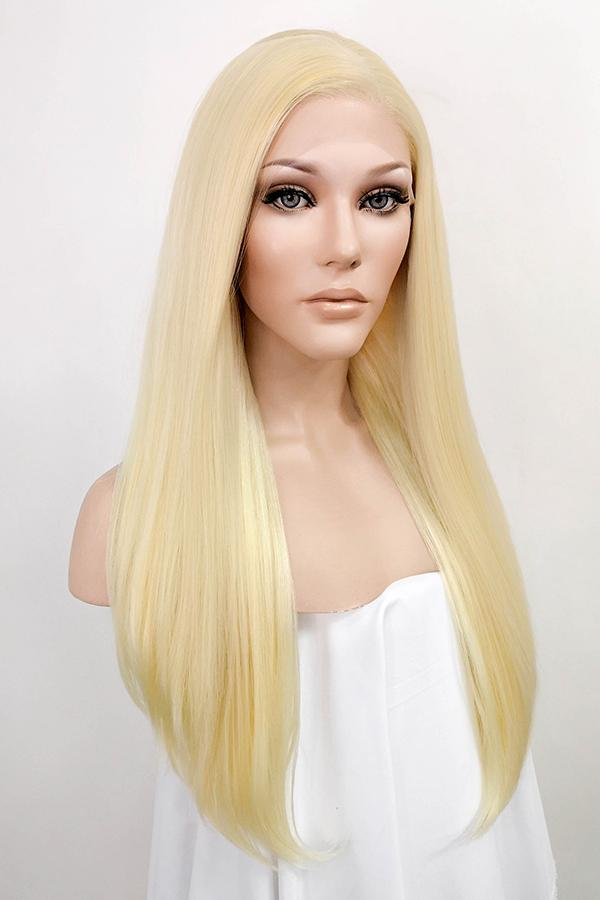 "24"" Golden Blonde Lace Front Synthetic Wig 20009 Inspired by Khloé Kardashian"