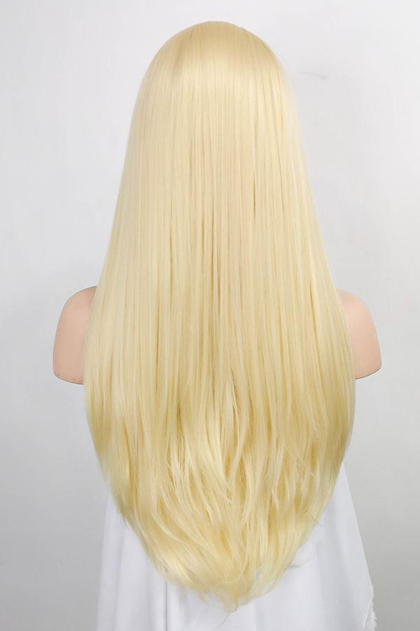 "24"" Golden Blonde Lace Front Synthetic Wig 20009"