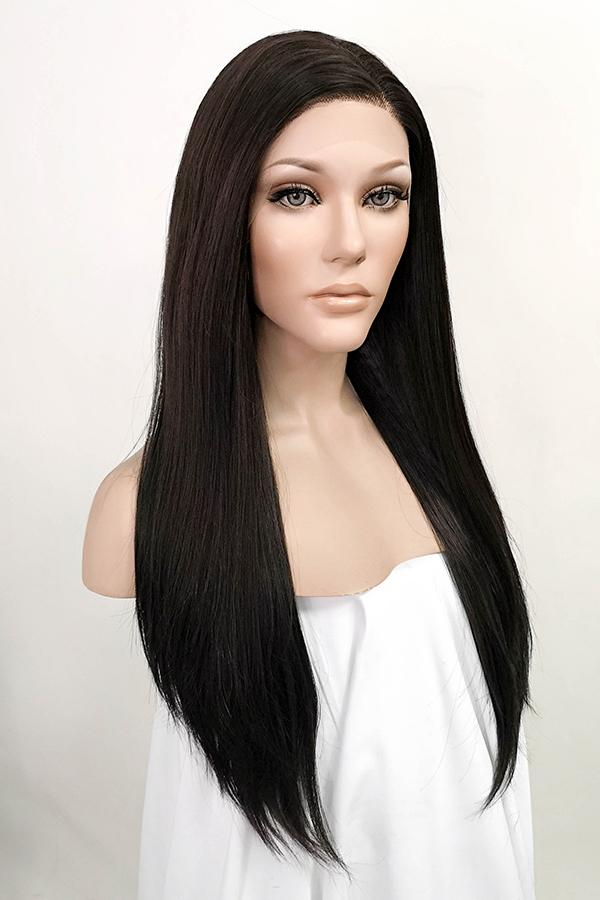 "24"" Mixed Brunette Lace Front Synthetic Wig 20010"