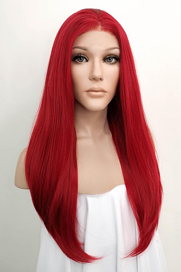 "24"" Red Lace Front Synthetic Hair Wig 20020 - StarLite Hair"