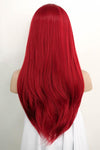 "24"" Red Lace Front Synthetic Hair Wig 20020"